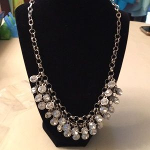 Silver Colored rhinestone necklace